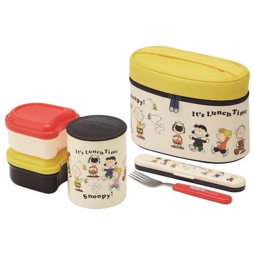 thermal lunch box set bento box set schulz s peanuts. Black Bedroom Furniture Sets. Home Design Ideas